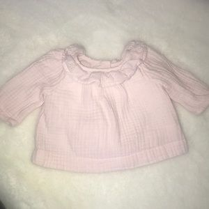 Gap baby pink shirt 0-3 months like new